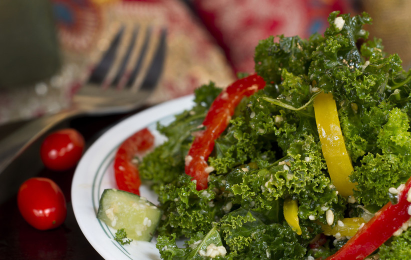 Kale Salad,Peppers & Cucumbers