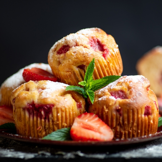 pHresh Strawberry-Blend Muffins