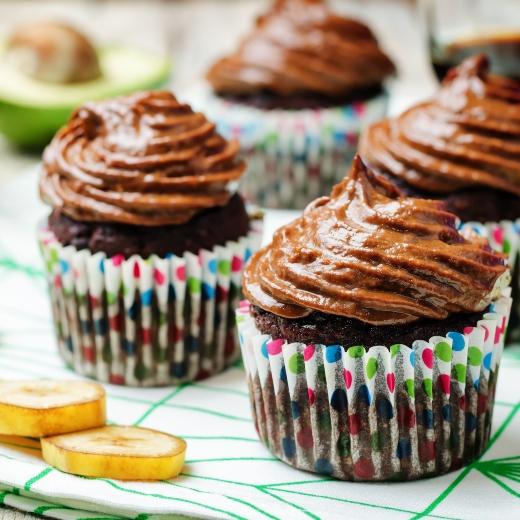 Sweet Zucchini Muffins With Choco Yogurt Frosting