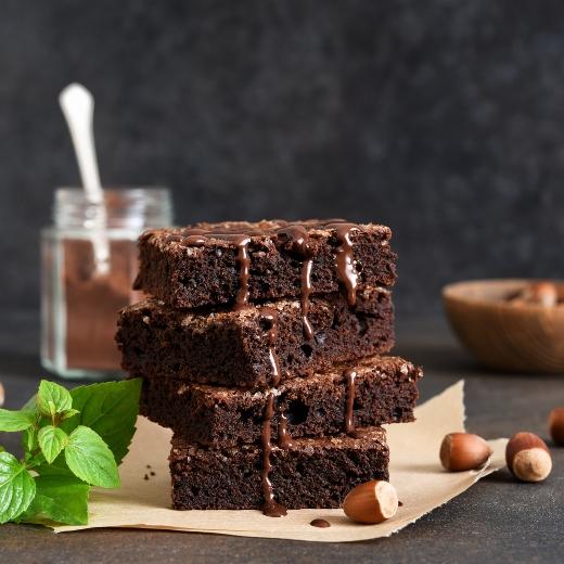 Vegan Organic Raw Cacao Brownies