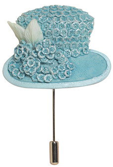 Powder Blue Hat Pin - Harriet Rosebud