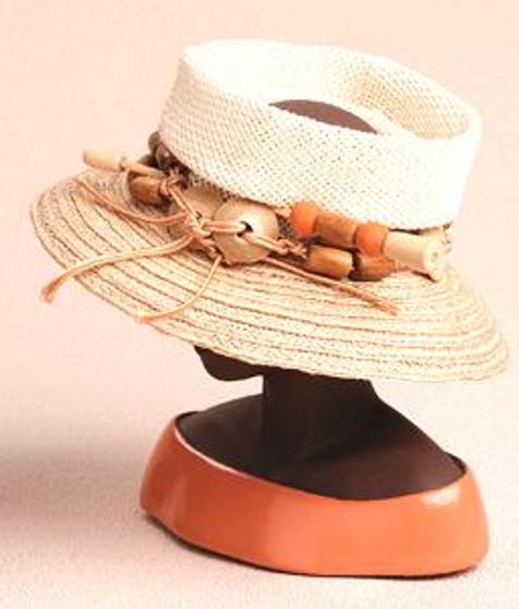 Woven Open Crown Lock - Harriet Rosebud Hat
