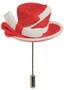 Women in Red Hat Pin - Harriet Rosebud
