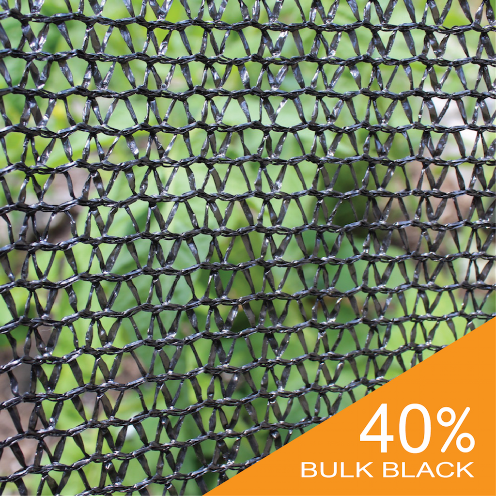 Shade Cloth - Black Knitted - 40%