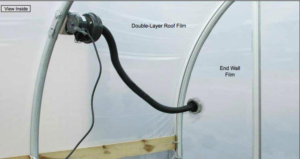 Greenhouse Inflation Blower Kits with External Air Draw Tube