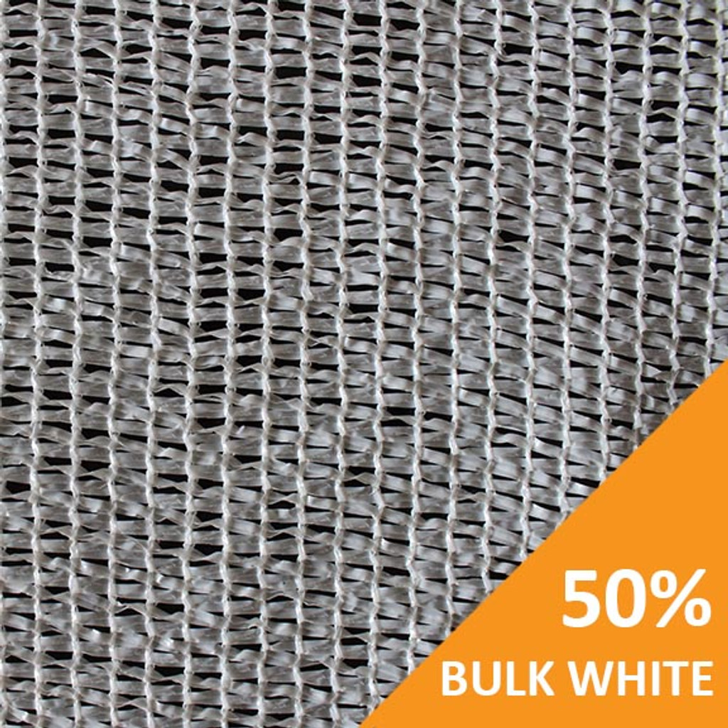 Shade Cloth - White Knitted - 50%