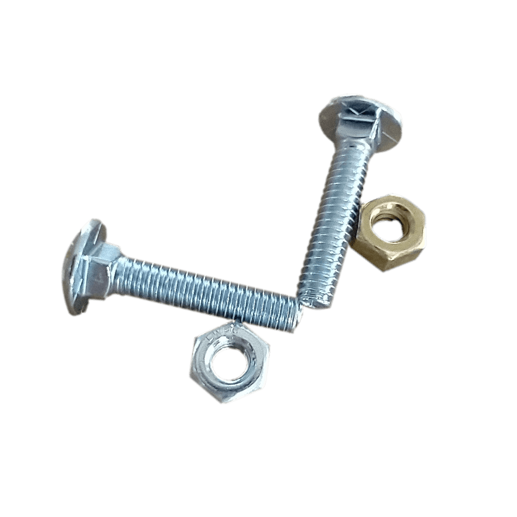 Carriage Bolt and Nut | 1/4 in. Diameter x 1-1/4 in. long | #20