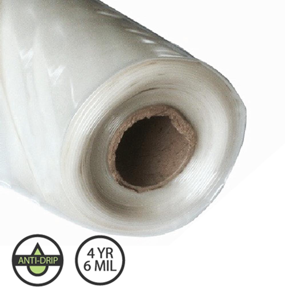 Greenhouse Plastic - IR Anti Drip - 4 year 6 mil - Various Sizes