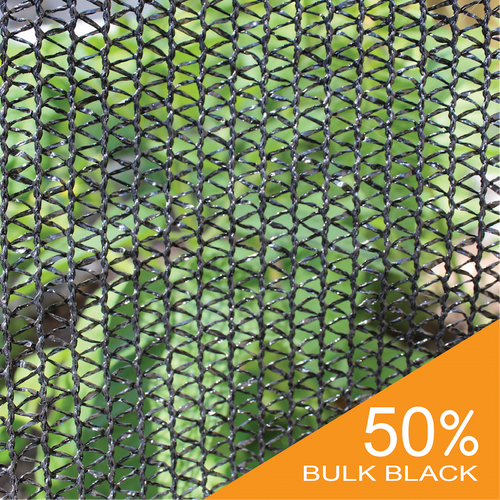 Shade Cloth - Black Knitted - 50%