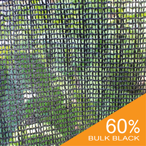 Shade Cloth - Black Knitted - 60%