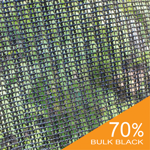 Shade Cloth - Black Knitted - 70%