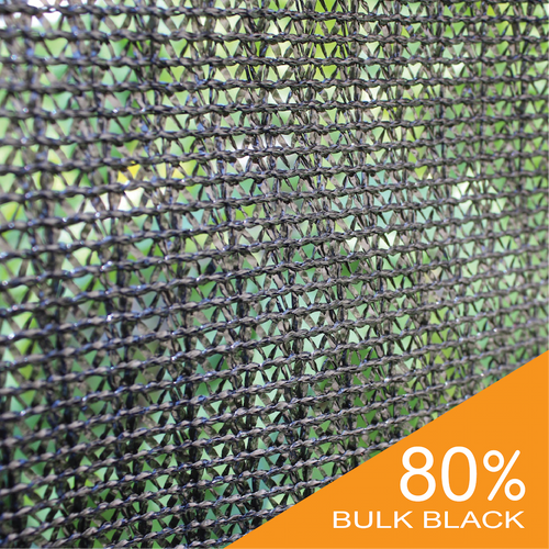 Shade Cloth - Black Knitted - 80%