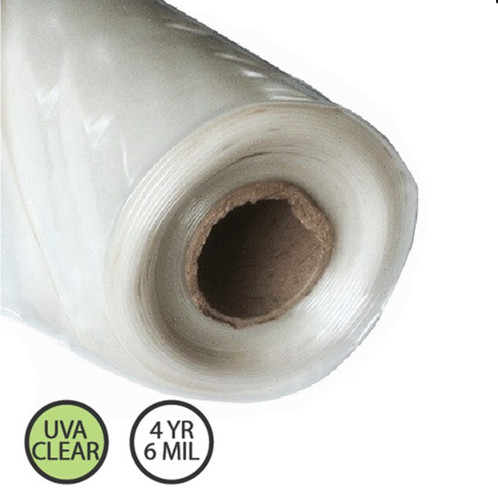 Clear Greenhouse Plastic - 4 year 6 mil - Various Sizes