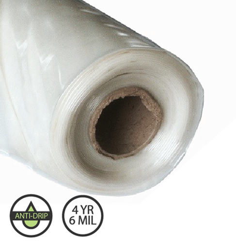 Greenhouse Plastic - IR Anti Drip - 4 year 6 mil - Various Sizes