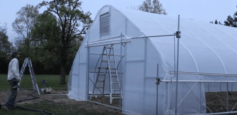 Building a Large DIY Door for your High Tunnel | Greenhouse Entrances