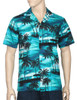 Island Sunrise Hawaii Aloha Shirt 100% Cotton - Versatile and Cool Open Collar - Relaxed Modern Fit Coconut shell buttons - Matching left pocket Color: Turquoise Sizes: S - 3XL Made in Hawaii - USA