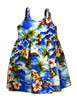 Hookipa Hibiscus - Babies Dress 100% Cotton Fabric Color: Blue Sizes: 6 months - 2 - 8 Made in Hawaii - USA