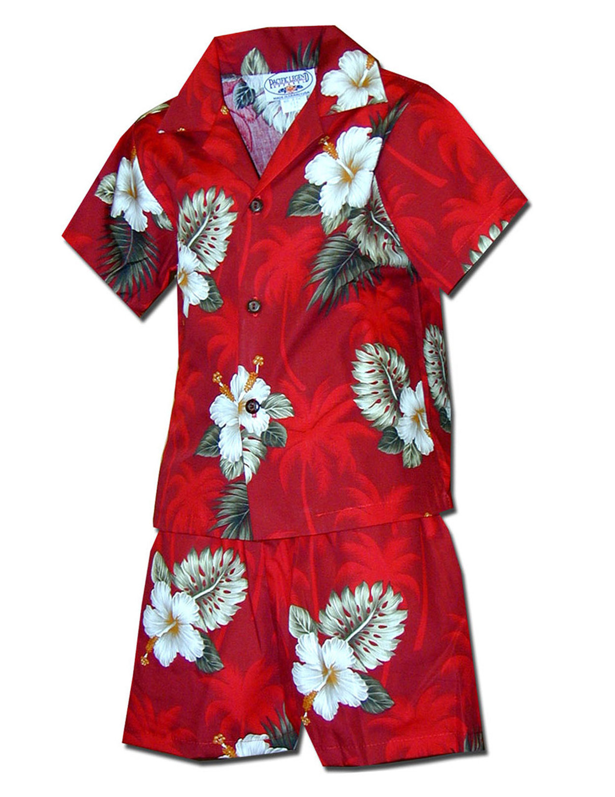 45be2e836215 Toddler Boys Clothes Set Island Ka Pua 100% Cotton Fabric Matching Shorts  and Shirt Set
