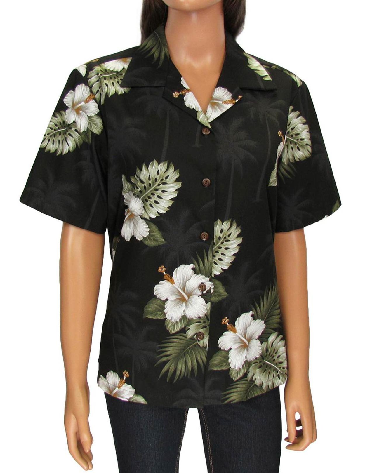 9abc176f52c1c Aloha Camp Blouse - Ka Pua 100% Cotton Loose Design Coconut shell buttons  Colors