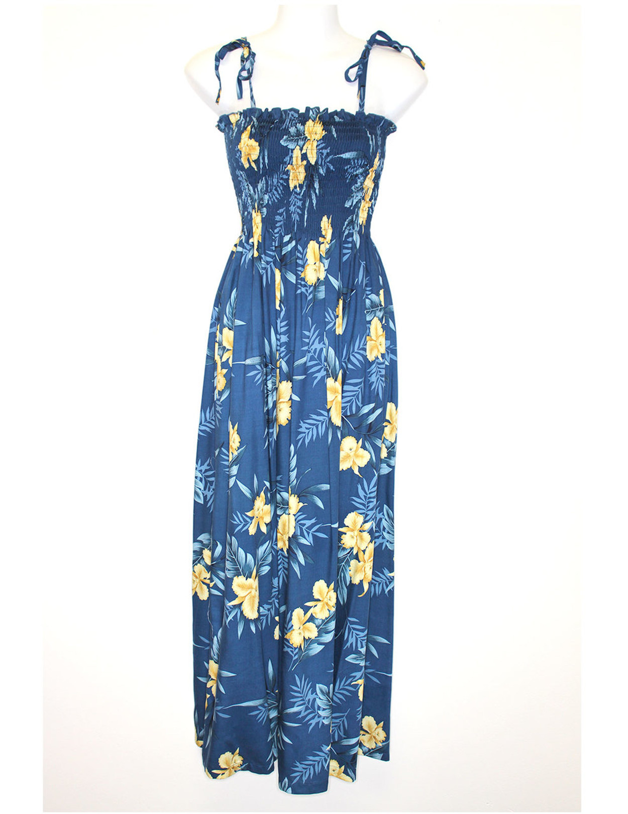 b480ada07a4a Okalani Long Maxi Smock Top Spaghetti Dress To Wear with Straps or  Strapless 100% Rayon