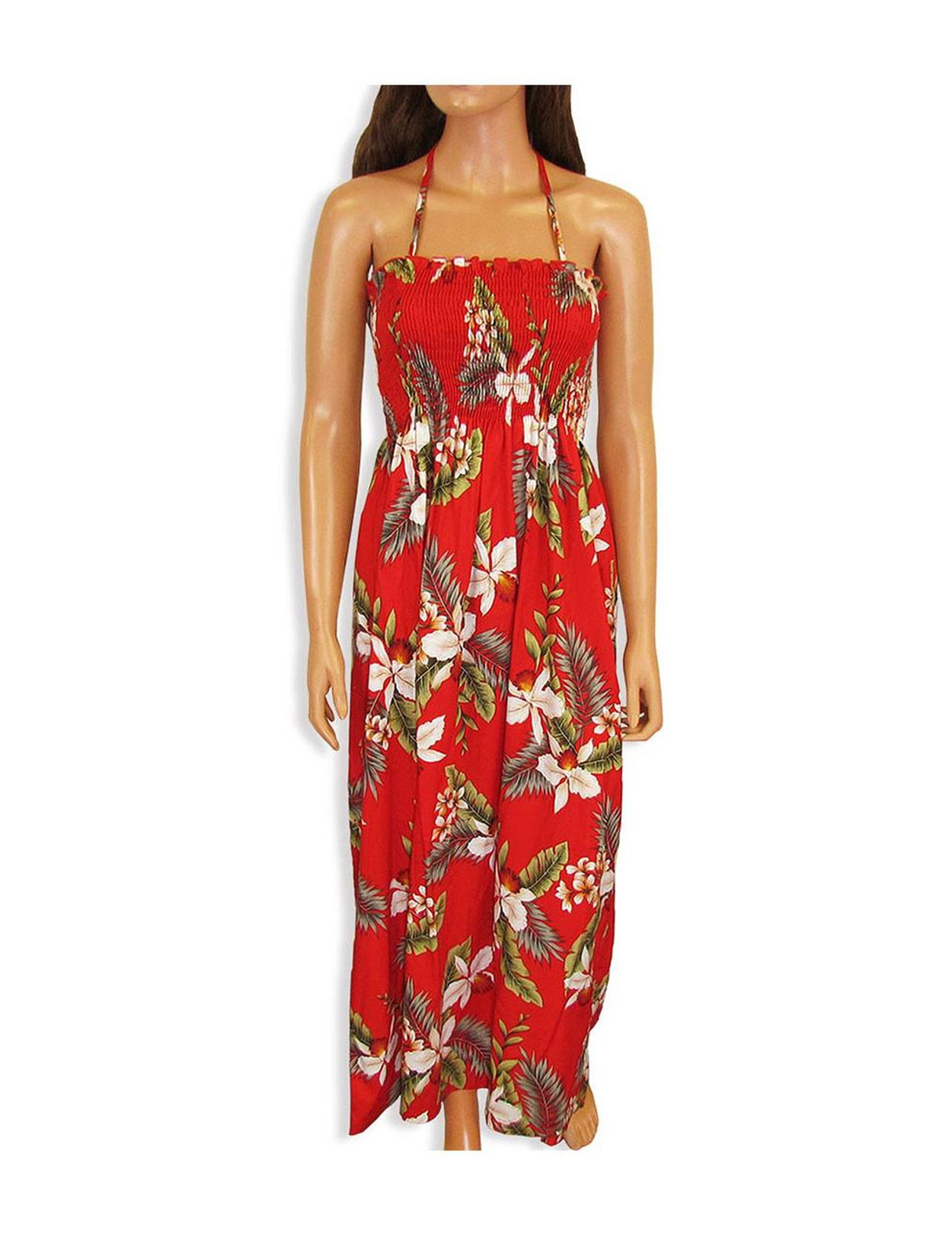 be42a7fb74 Tube Top Maxi Long Smock Floral Dress Hanapepe To Wear with Straps or  Strapless 100%
