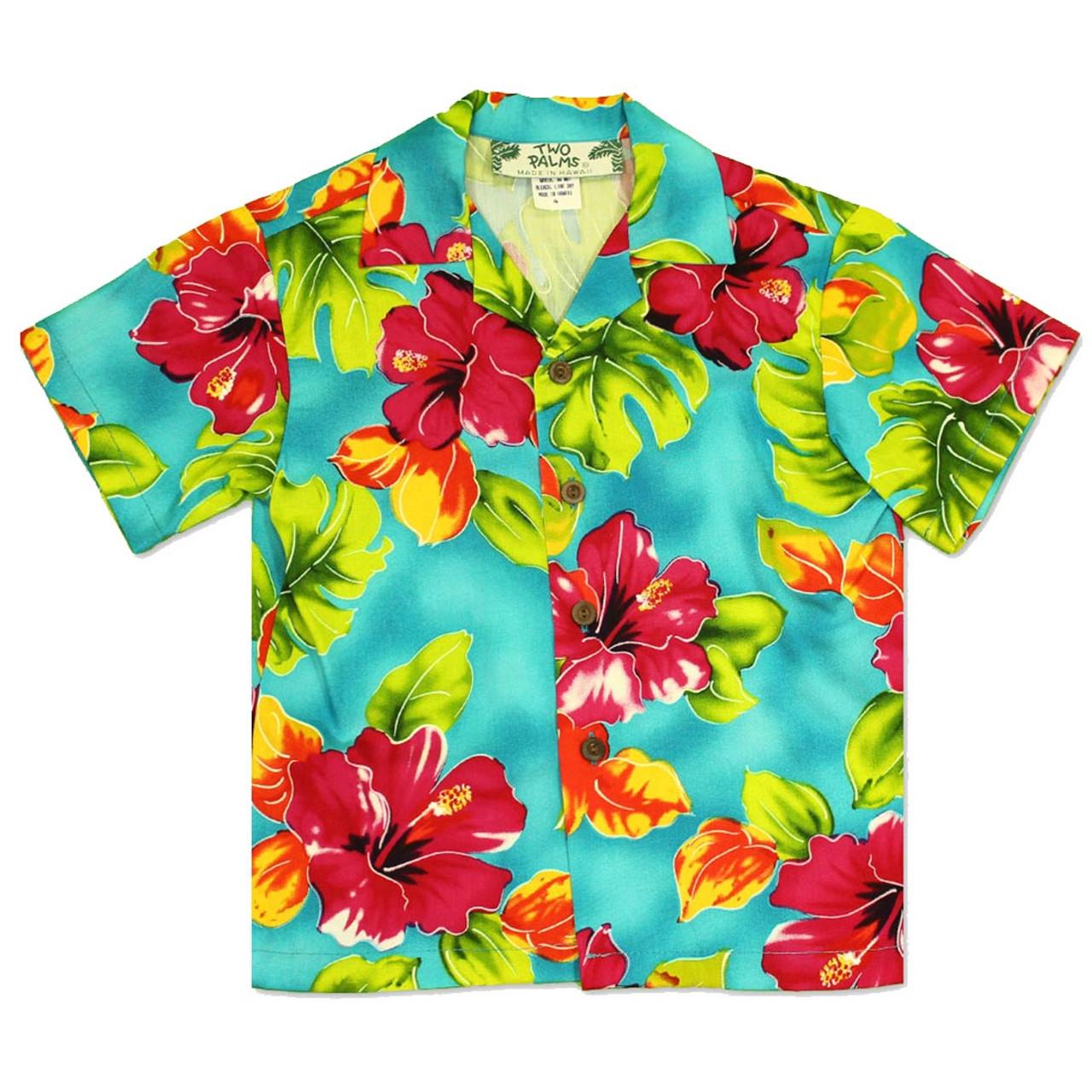 Boy S Hawaiian Shirt Water Hibiscus Hawaiian Wedding Place