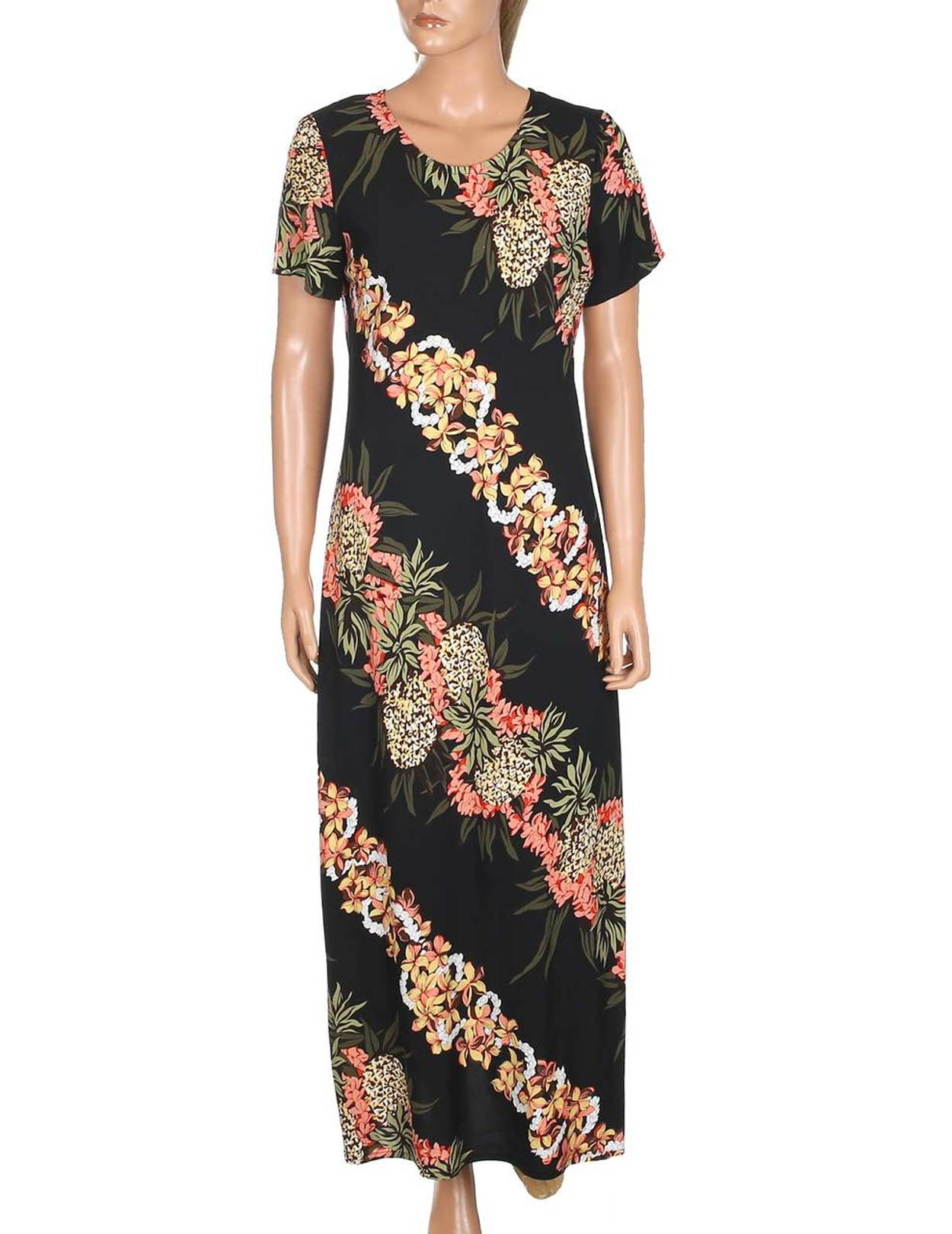 d2f1869637 Pineapple Panel Long Maxi Dress with Sleeves 100% Rayon Soft Fabric Long  Maxi Style Dress
