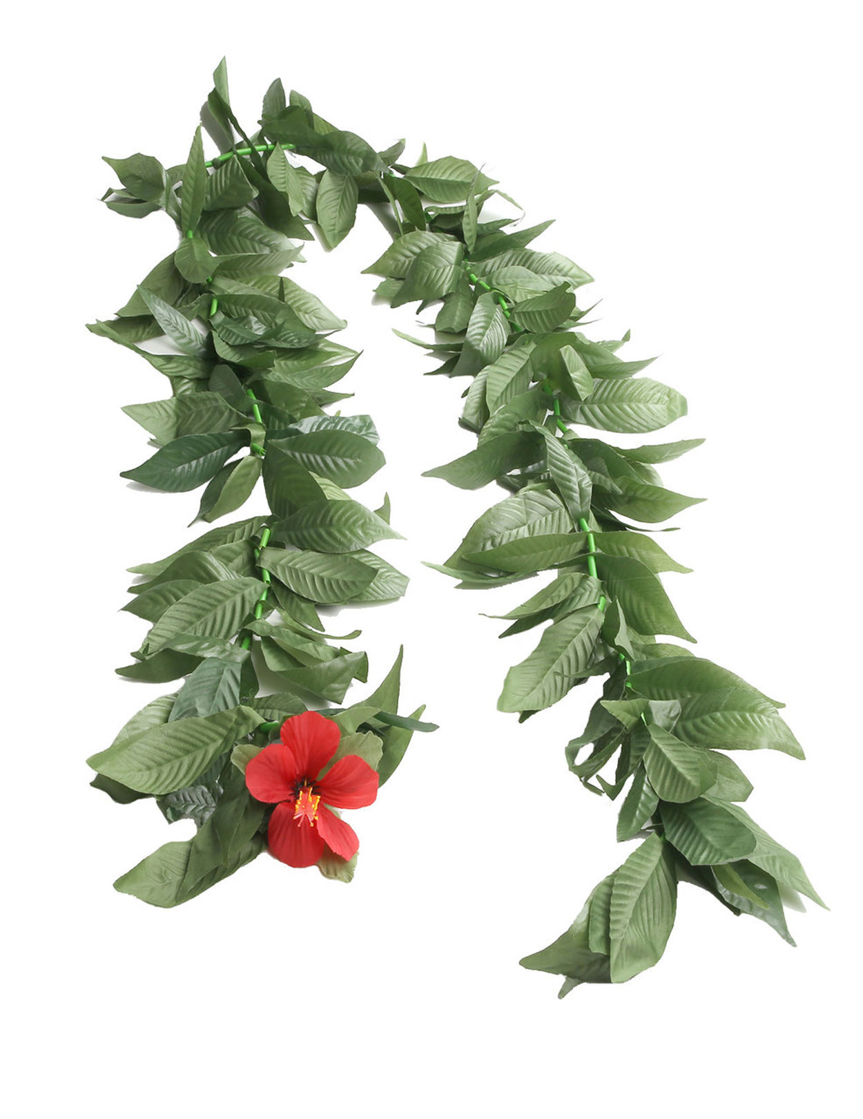 Maile Silk Ti Leaf Lei Open Ended 60 Inch Hawaiian Wedding Place
