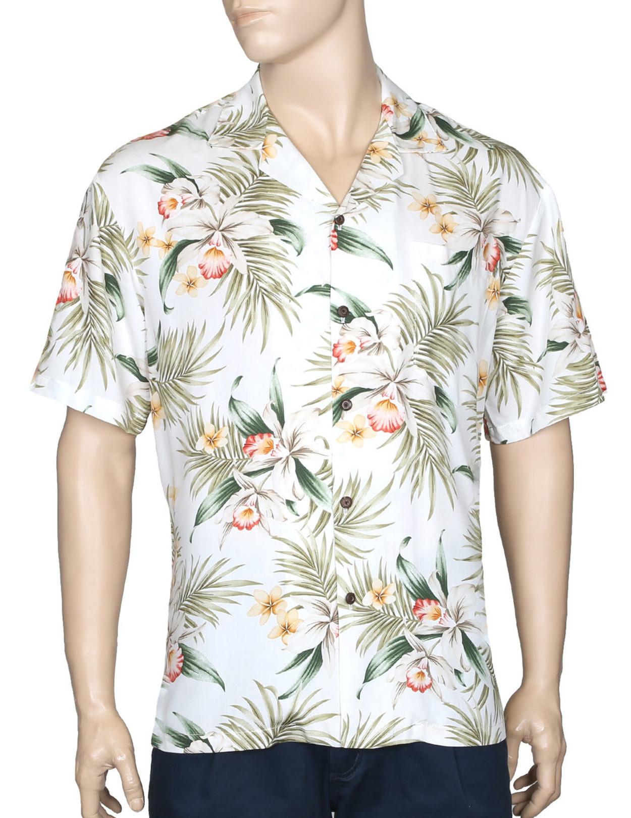 8667f14798 Classic Orchids Rayon Aloha Shirt