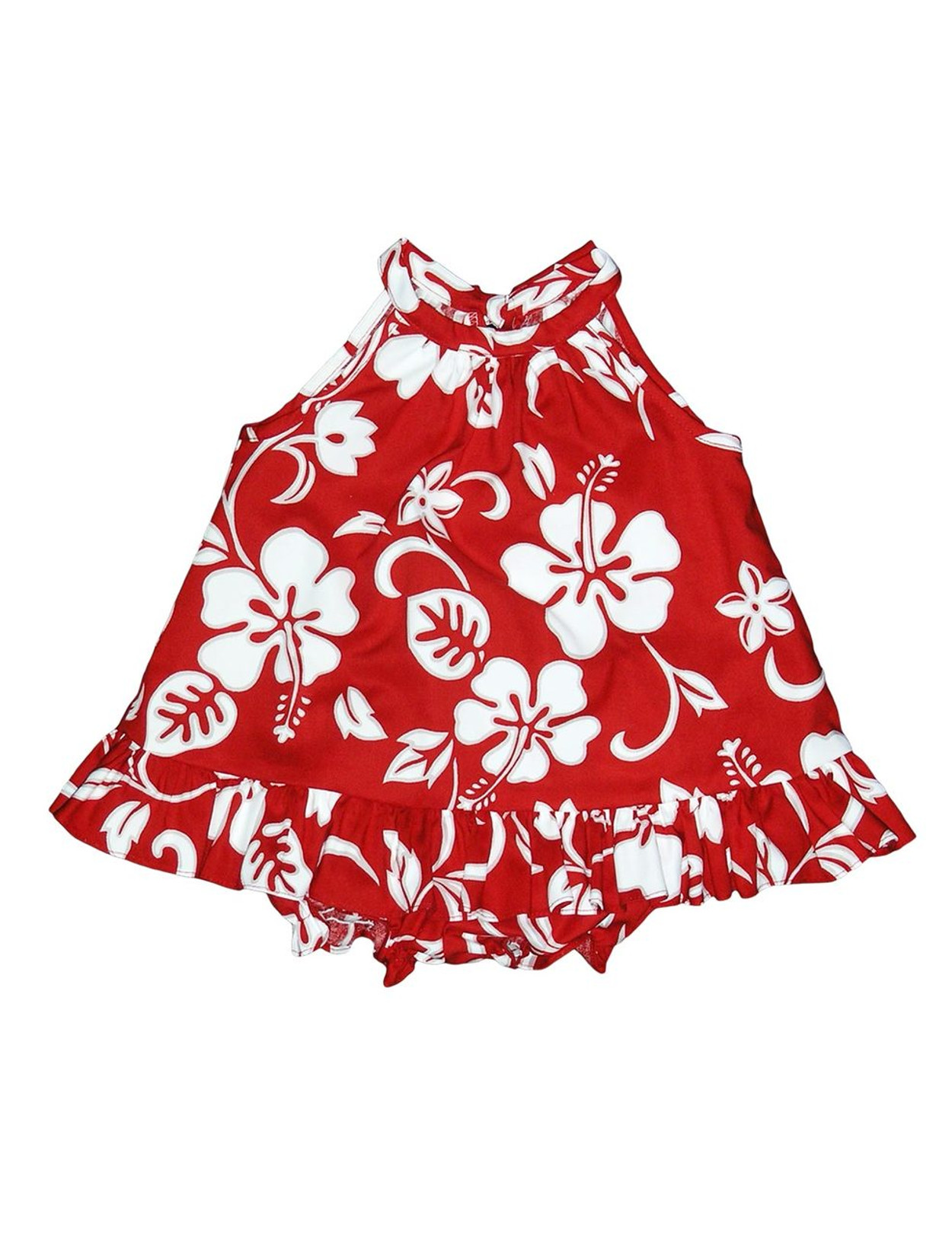 69450acf108e Baby Girl Halter Flower Dress Set 2 Piece Classic Hibiscus Includes a  Comfortable Top and Matching