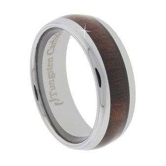 Tungsten Band with Koa Wood Inlaid 8mm
