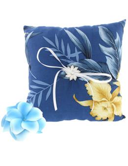 Wedding Pillow Okalani Blue Fabric
