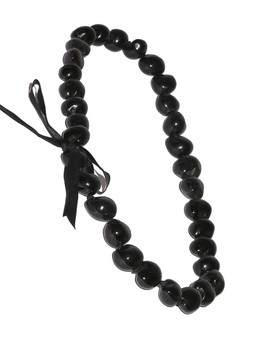 Black Polished Kukui Nut Candlenut Lei Linked Kukui Lei Design Durable - Long-lasting Unscented - Hypoallergenic Color: Black Length: 38 Inches Circumference Imported Do you need flower accessories for your big event? Ask about quantity discounts.