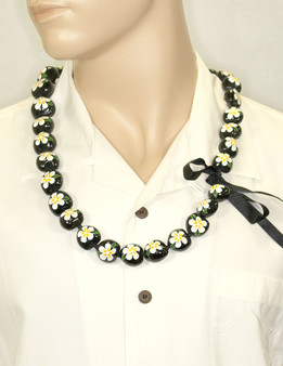 "Hand Painted Natural Flower Polished Kukui Nut Candlenut Lei Linked Kukui Lei Design Durable - Long-lasting Unscented - Hypoallergenic Color: Natural Length: 38"" Circumference Imported Do you need flower accessories for your big event? Ask about quantity discounts."