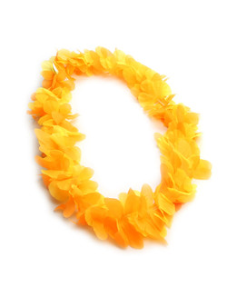 Orange Silk Flower Party Lei Durable - Long-lasting Silk Unscented - Hypoallergenic Color: Orange Length: 40 Inches Circumference Imported Do you need flower accessories for your big event? Ask about quantity discounts.