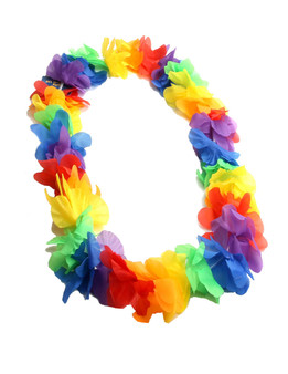 Multicolored Party Hawaiian Silk Flower Lei Durable - Long-lasting Silk Unscented - Hypoallergenic Color: Multicolored Length: 40 Inches Circumference Imported Do you need flower accessories for your big event? Ask about quantity discounts.