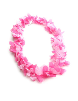 Pink Party Hawaiian Silk Fun Lei