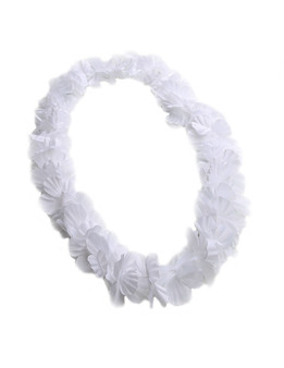 White Party Fun Flower Lei Durable - Long-lasting Silk Unscented - Hypoallergenic Color: White Length: 40 Inches Circumference Imported Do you need flower accessories for your big event? Ask about quantity discounts.