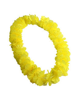 Yellow Luau Party Silk Flower Lei Durable - Long-lasting Silk Unscented - Hypoallergenic Color: Yellow Length: 40 Inches Circumference Imported Do you need flower accessories for your big event? Ask about quantity discounts.