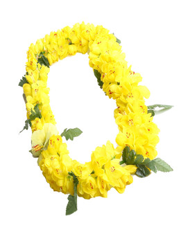 Yellow Shell Ginger Silk Flower Lei