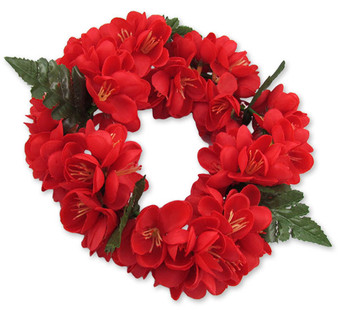 Red Flowers Shell Ginger Silk Headband Unscented Silk Flowers - Hypoallergenic Durable - Long-lasting Silk Color: Red Length: 18 Inches Circumference Elastic String Adjustable Imported Do you need flower accessories for your big event? Ask about quantity discounts.