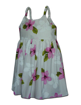 Koala Hawaiian Bungee Girls Dress  100% Cotton Fabric  Color: Pink Sizes: 6 months - 2 - 8 Made in Hawaii - USA