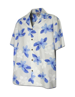 Koala Print Men's Cotton Island Shirt 100% Cotton Coconut shell buttons Matching left pocket Color: Blue Sizes: M - 2XL Made in Hawaii - USA