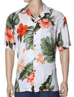 Rayon Hawaiian Shirt Waipio Hibiscus