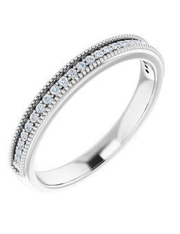 14K White Gold 3/4 CTW Diamond Wedding Band Aloha This 4mm white gold wedding band has 9 diamonds of 3/4 CTW with 6 points each is perfect for the right moment