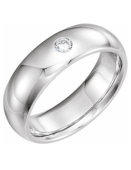 Men Wedding Band 14K White Gold 6mm with Diamond Gypsy-Set This Men wedding band 6mm 14k white gold with 1.1 CT diamond Gypsy-Set