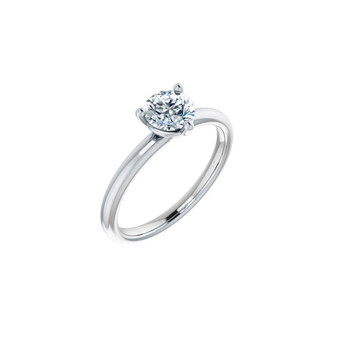 14K White Gold with 3-Prong Martini Setting Lab-grown diamond VS2 clarity, G color, round diamond .75 CT TW