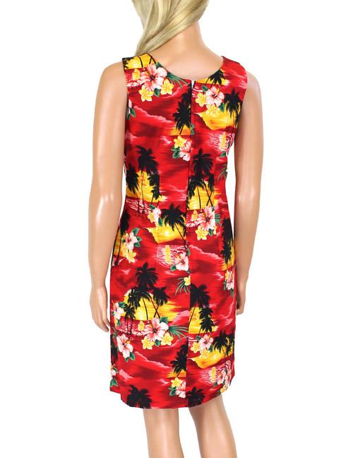 29911e5c6353f ... Hawaiian Short Island Sunset Tank Dress 100% Cotton Fabric Care   Machine Wash Cold