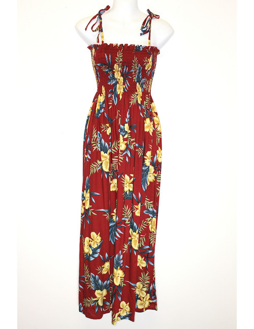 532c2209f9e ... Okalani Long Maxi Smock Top Spaghetti Dress To Wear with Straps or  Strapless 100% Rayon