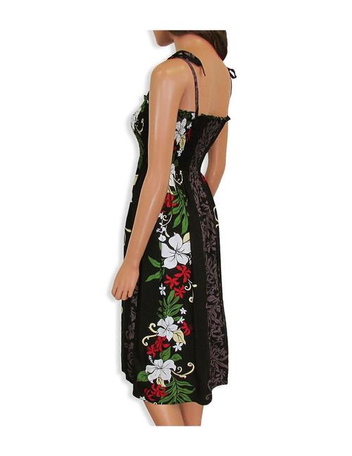 fe64f055344 ... Lokelani Mid-length Tube Top Rayon Smocked Dress 100% Rayon Color   Black Length